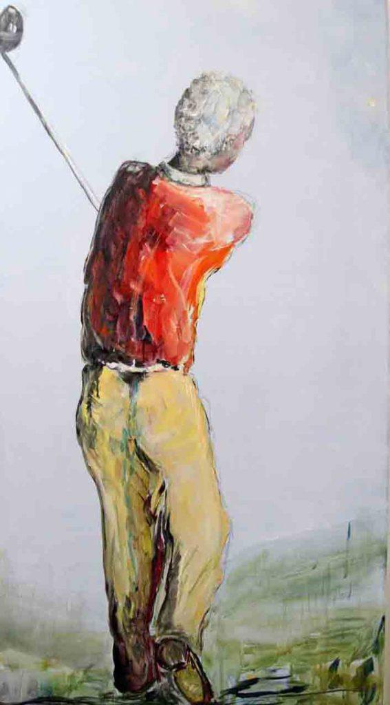 """""""Der Golfspieler"""" von Yvonne Nordhaus-Wentzel"""